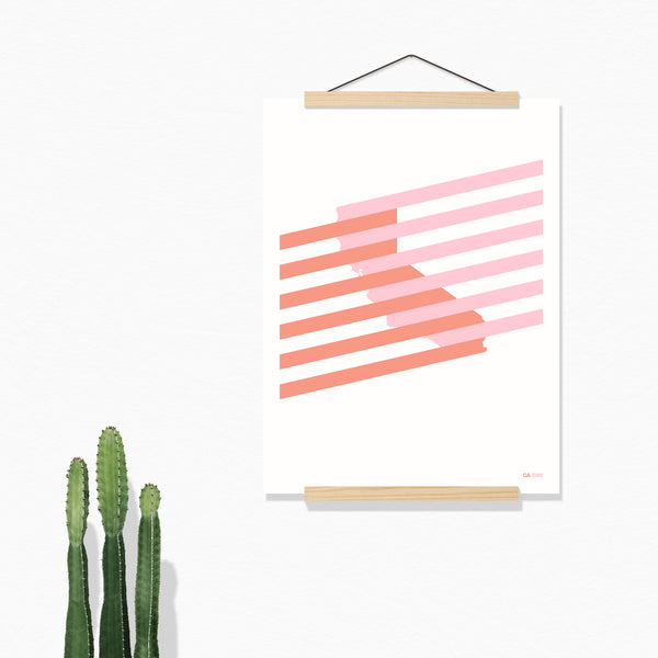 California Stripes Print