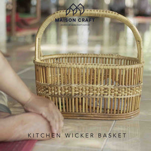 Kitchen wicker baskets