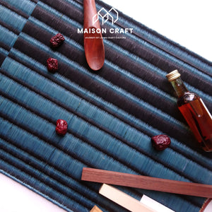 Placemat L Sarasarn Black-Blue