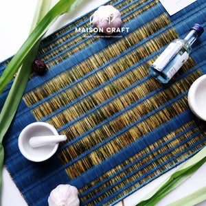 Placemat L Sarasarn Blue-Green