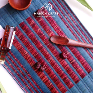 Placemat L Sarasarn Blue-Red