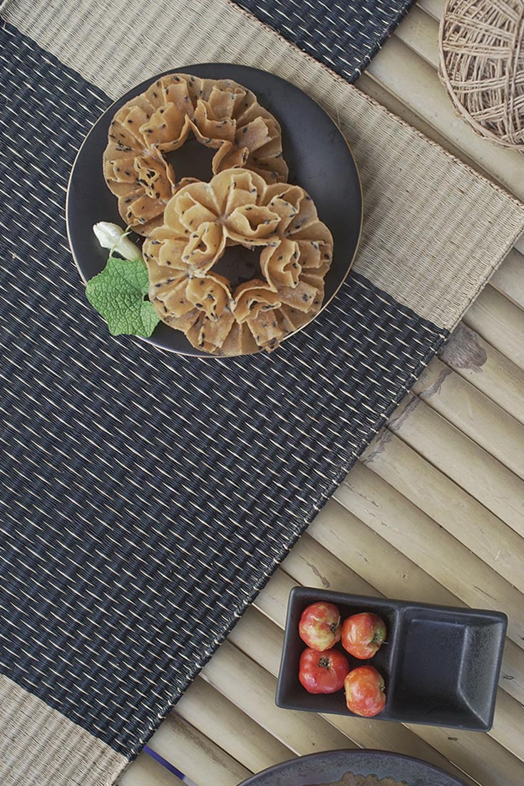 Placemat L Midnight Natural Rain