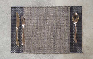 Placemat L Mixed Stripe Rain