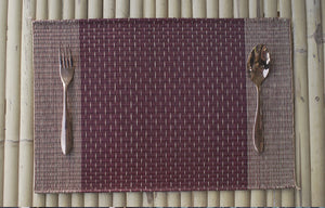 Placemat L Cherry Stripe Rain