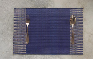 Placemat L Navy Triple edge