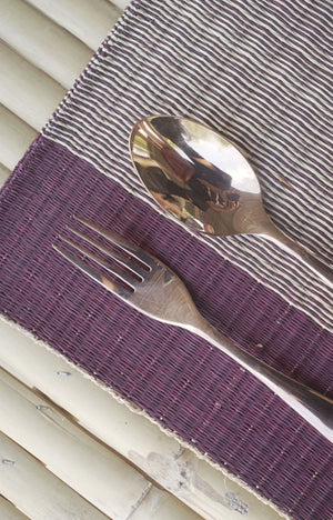 Placemat L Cherry Center Stripe