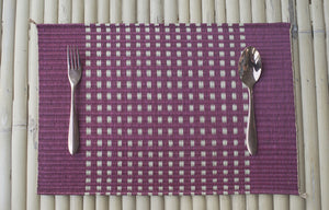 Placemat L Cherry Grid