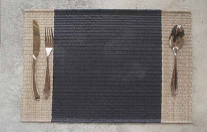 Placemat L Mixed Black Center
