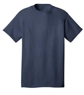 T-Shirt: Adult XL: Plain: Heather Navy