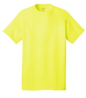T-Shirt: Adult L: Plain: Neon Yellow
