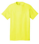 T-Shirt: Adult XL: Plain: Neon Yellow