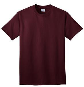 T-Shirt: Adult S: Plain: Athletic Maroon