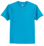 T-Shirt: Youth XS: Plain: Teal Blue