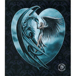 Blanket Queen Signature- Skull Ct- JQ Silverback Dragon Angel