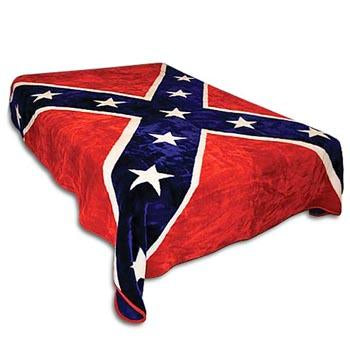 Blanket Queen DRA- Flag Ct- Rebel Flag 472