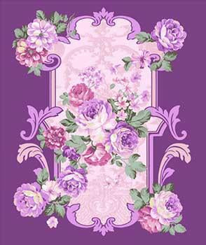 Blanket Queen MIL- Floral Ct- G2783 Floral Purple