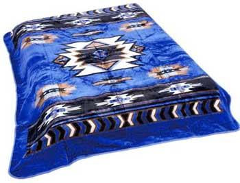 Blanket Queen MIL- Indian Ct- Southwest Blue 747