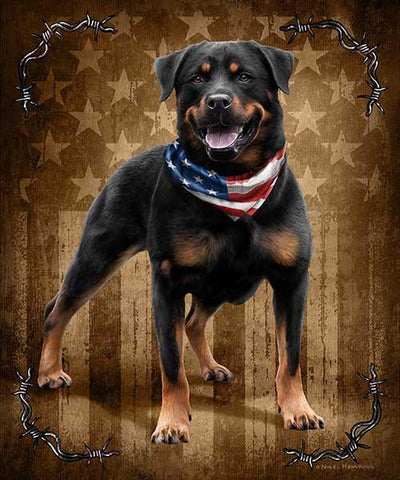 Blanket Queen Signature Select Bad to the Bone Rottweiler Dog