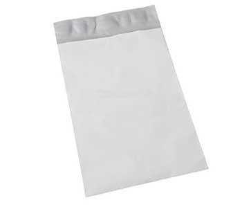 BAGS: Number5 Self-Sealing White Poly Mailers 12x15.5