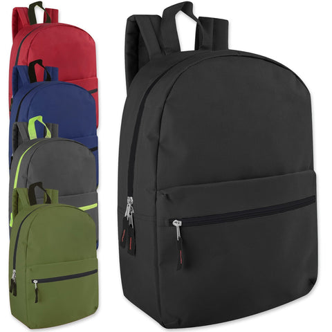 Wholesale Trailmaker Classic 17 Inch Backpack - 6 Color Assortment