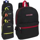 Wholesale 17 Inch Solid Backpack Colored Zipper Assortment