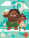 Blanket 60x80 Cartoon Moana Maui Tropical