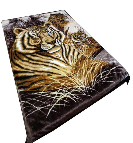 Blanket Queen ATL Tiger Ct 3 Big Cats Tiger Cheetah 142106