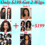 Only $199 Get 2 Human Hair Wigs