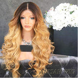 1b/27 Wavy Virgin Human Hair Lace Front Wig/ Full Lace Wig
