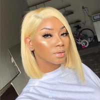 Blonde Human Hair Bob Wigs Straight Short Lace Front wig/Full Lace Wig