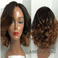 Ombre 1b/30 Color Short Bob Lace Front Human Hair Wigs/Full Lace Wigs