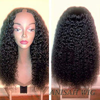 Brazilian Virgin Hair Curly Human Hair U Part Wig