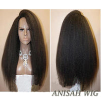 Virgin Human Hair Kinky Straight Lace Front Wig/ Full Lace Wig