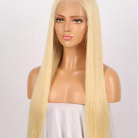 Blonde Straight Human Hair Lace Front Wig/ Full Lace Wig