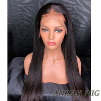 Itailian Yaki Human Hair Lace Front Wig/ Full Lace Wig