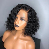 Short Curly Bob Lace Front Human Hair Wigs/Full Lace Wigs Pre Plucked With Baby Hair