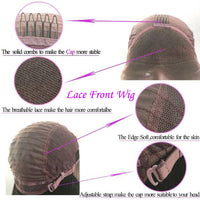 1b/#4/#27 Wavy Virgin Human Hair Lace Front Wig/ Full Lace Wig