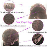 1b/Purple Human Hair Lace Front Wig/ Full Lace Wig