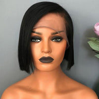 Silky Straight Short Human Hair Bob Wigs Lace Front wig/Full Lace Wig for Black Woman