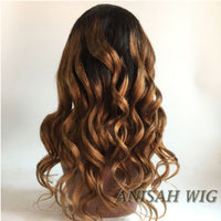 1b/30 Wavy Human Hair Lace Front Wig/ Full Lace Wig