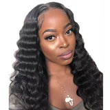 Deep Wave Human Hair Lace Front Wig/ Full Lace Wig for Women