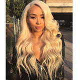 Blonde Human Hair Lace Front Wig/ Full Lace Wig