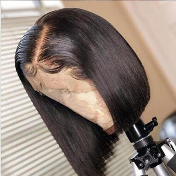 Short Bob 13X6 Lace Front Human Hair Wigs for Black Women