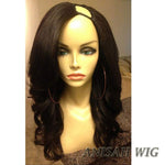Brazilian Virgin Hair Wavy Human Hair U Part Wig