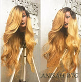1b/27 Body Wavy Human Hair Lace Front Wig/ Full Lace Wig