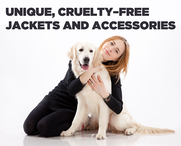 Unique, cruelty–free jackets and accessories