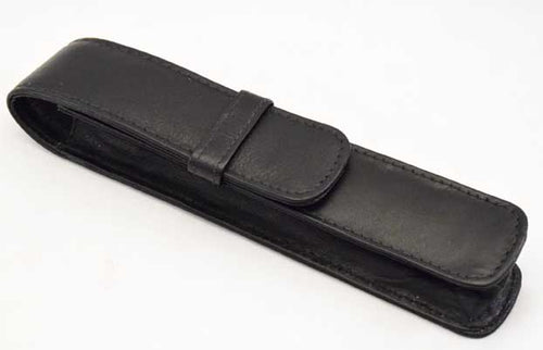 1LPH-Single Leather Pen Holder - Black