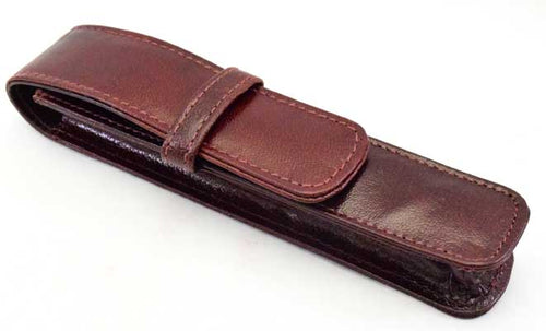 1LPH- Single Leather Pen Holder - Oxblood