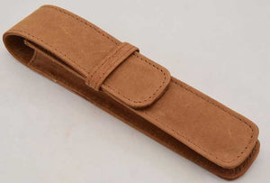 1LPH- Single Leather Pen Holder - Saddle Tan