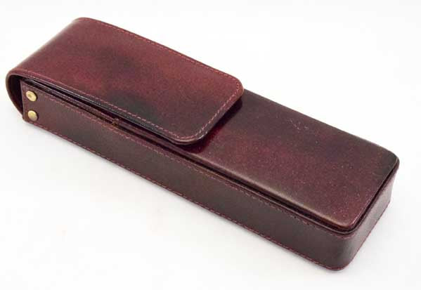 2LPH-Two Leather Pen Holder - Oxford